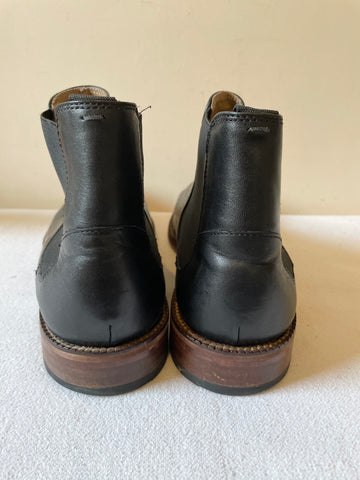 BEN SHERMAN BLACK LEATHER CHELSEA BOOTS SIZE 9.5/44
