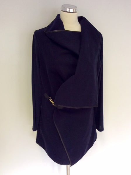 BRAND NEW IZABEL LONDON NAVY BLUE WATERFALL JACKET SIZE 10