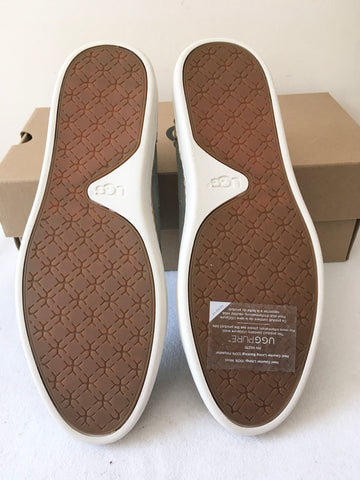 BRAND NEW UGG ADLEY ALOE VERA LEATHER SLIP ON COMFORT FLATS SIZE 6/39