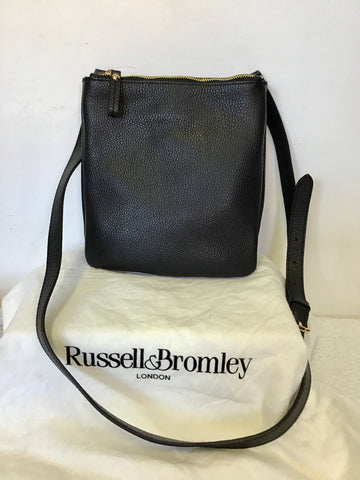 BRAND NEW RUSSELL & BROMLEY BLACK LEATHER LINCOLN CROSS BODY BAG