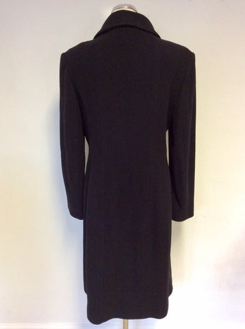 HOBBS BLACK WOOL & CASHMERE BLEND COAT SIZE 16