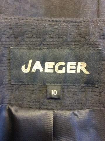 BRAND NEW JAEGER BLACK COTTON BLEND JACKET SIZE 10