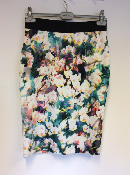 BRAND NEW COAST MULTI COLOURED FLORAL PRINT PENCIL SKIRT SIZE 12