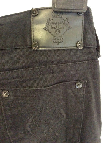 ARROGANT CAT BLACK ZIP SIDE SKINNY LEG JEANS SIZE 8