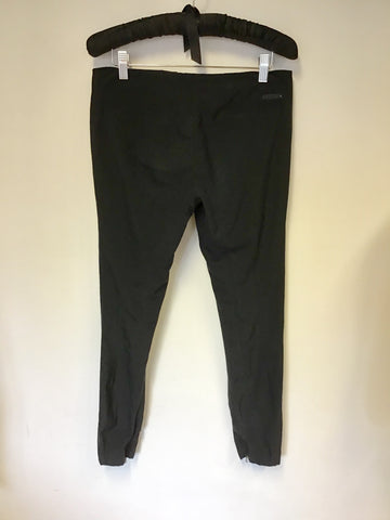 PRADA BLACK CAPRI PANTS WITH ZIP TRIMS SIZE 38 UK 10