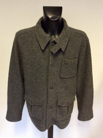 DKNY JEANS GREY WOOL JACKET SIZE L