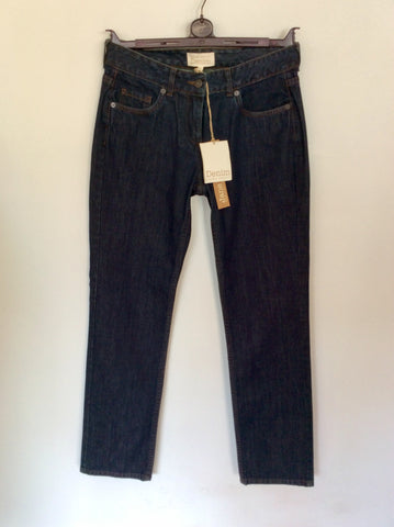 BRAND NEW LAURA ASHLEY INDIGO BLUE LOW RISE STRAIGHT LEG JEANS SIZE 10