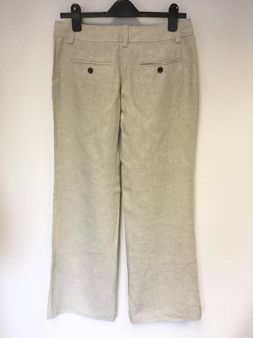 BRAND NEW JIGSAW NATURAL/ BEIGE LINEN TROUSERS SIZE 12