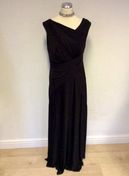 BRAND NEW JOSEPH RIBKOFF BLACK FULL LENGTH EVENING DRESS SIZE 14