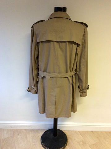 JAEGER BEIGE BELTED COTTON BELTED TRENCH COAT SIZE XXL