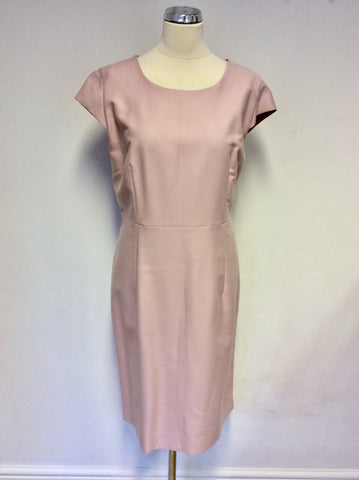 BRAND NEW JAEGER PALE PINK CAP SLEEVE PENCIL DRESS SIZE 18