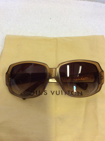 LOUIS VUITTON HONEY BROWN OBSESSION CARRE SUNGLASSES