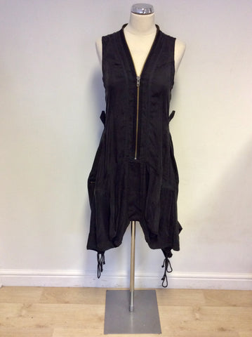 ALL SAINTS ZEEDA MIDNIGHT PARACHUTE STYLE DRESS SIZE 14