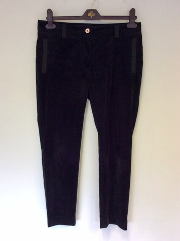 MULBERRY BLACK CORD TROUSERS SIZE 10