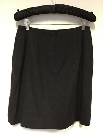 RALPH LAUREN DARK GREY WOOL STRAIGHT SKIRT SIZE 10