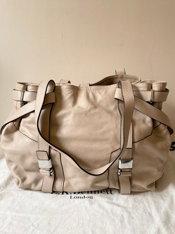 BRAND NEW LK BENNETT ANNINA BEIGE BUTTER SOFT LEATHER SHOULDER BAG