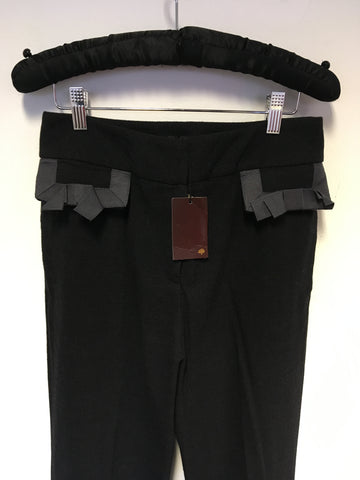BRAND NEW MULBERRY SAMPLE CHARCOAL WOOL TROUSERS SIZE 10