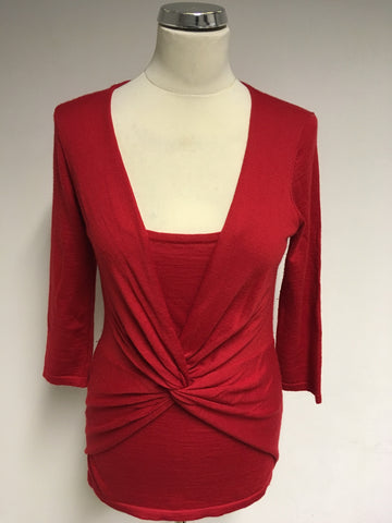 PHASE EIGHT RED TWIST FRONT JUMPER SIZE 12