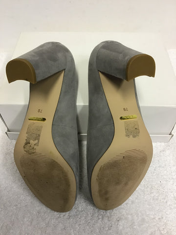 BRAND NEW RALPH LAUREN GREY SUEDE COURT SHOES SIZE 5/38