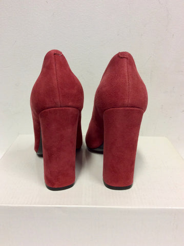 BRAND NEW NINE WEST RED SUEDE HEELS SIZE 2.5/ 35