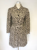 MARC BY MARC JACOBS LEOPARD PRINT BELTED COAT SIZE M