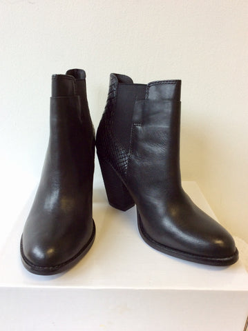 BRAND NEW ALDO BLACK LEATHER ANKLE BOOTS SIZE 7/40