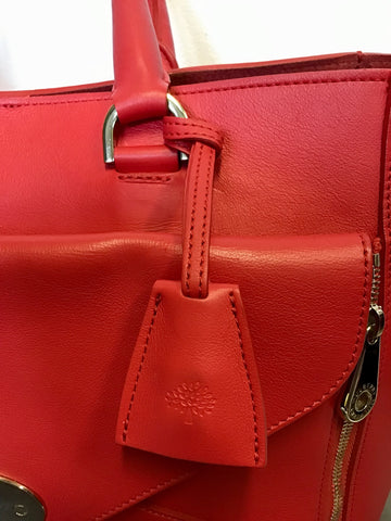 MULBERRY HIBISCUS CLASSIC WILLOW SILKY CALF LEATHER TOTE BAG