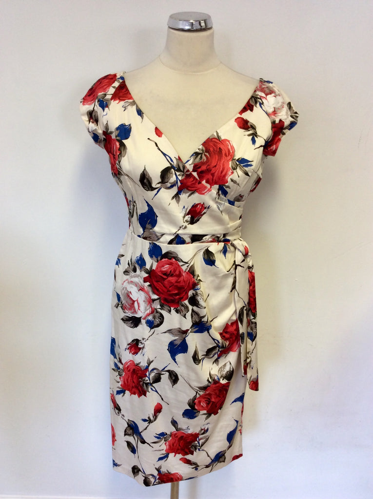 43dfbdf0a BRAND NEW THE PRETTY DRESS COMPANY CARMEN FLORAL PRINT HOURGLASS PENCIL  DRESS SIZE 12
