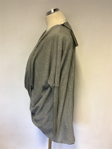 BRAND NEW ALL SAINTS GREY MARL ITAT SHRUG JUMPER/ CARDIGAN SIZE XS
