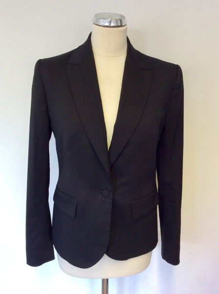 MULBERRY BLACK WOOL SUIT JACKET SIZE 8