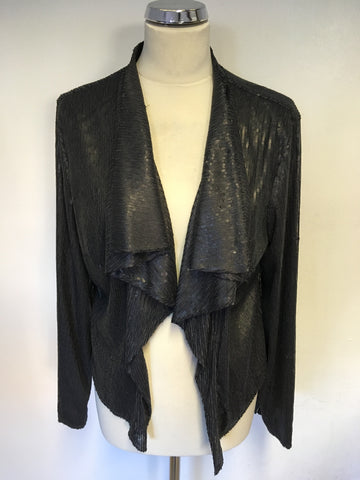 BRAND NEW PER UNA SPEZIALE DARK GREY SEQUINNED JACKET SIZE 16
