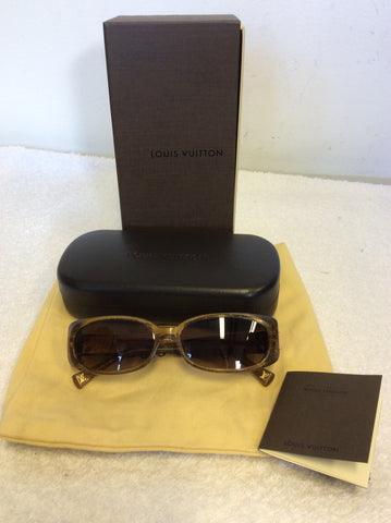 LOUIS VUITTON HONEY BROWN GLITTER SOUPÇON SUNGLASSES