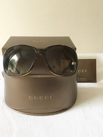 GUCCI 3027/S HAVANA TORTOISE BROWN FRAME WITH DARK GREY GRADIENT LENS SUNGLASSES