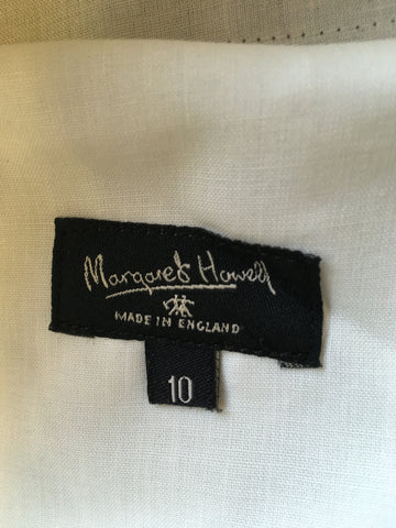 MARGARET HOWELL BLACK & WHITE PRINCE OF WALES CHECK WOOL TROUSERS SIZE 10