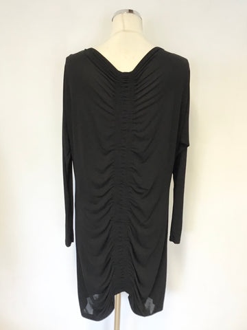 ALL SAINTS SPITALFIELDS BLACK SARANNE LONG SLEEVE MINI DRESS SIZE 8