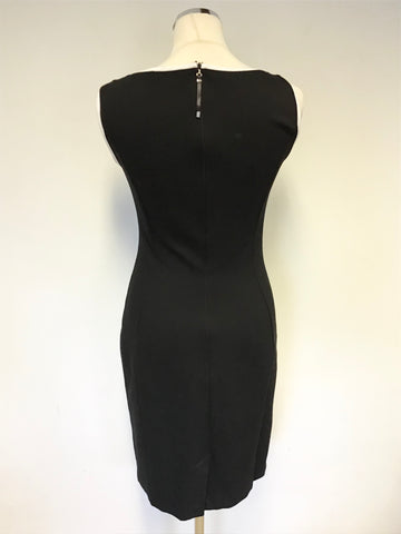 AIRFIELD BLACK & WHITE SLEEVELESS STRETCH PENCIL DRESS SIZE 8/10