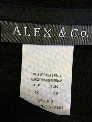 ALEX & CO BLACK JACKET & TROUSER SUIT SIZE 12
