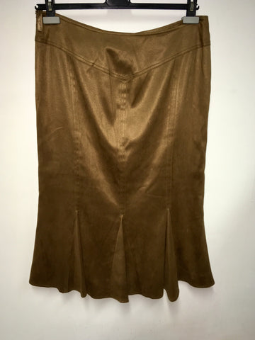 BRAND NEW COUNTRY CASUALS SEPIA BROWN CALF LENGTH SKIRT SIZE 14