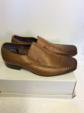 FIRE TRAP LIGHT BROWN/ TAN LEATHER SLIP ON SHOES SIZE 7/ 41