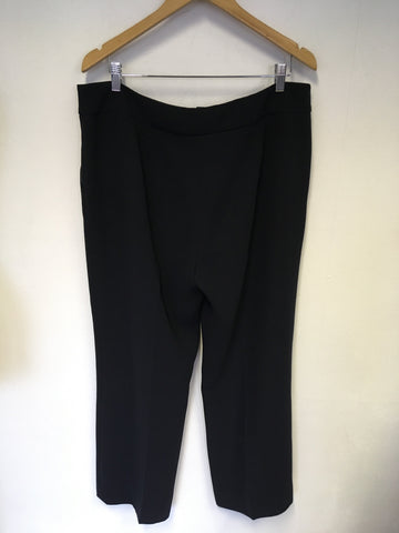HOBBS BLACK TAILORED TROUSERS SIZE 16