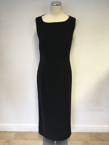 VERA MONT BLACK LONG EVENING BACK WITH OPEN STRAPPY BACK SIZE 12