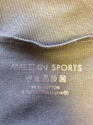MARCCAIN SPORTS DARK BROWN SCOOP NECK SHORT SLEEVE TOP SIZE N5 UK 14/16