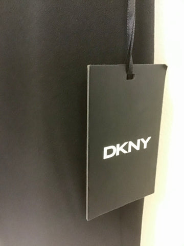 BRAND NEW DKNY BLACK FOUNDATION SLIM TROUSERS SIZE 12