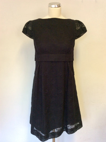 JESIRE BLACK LACE CAP SLEEVE REAR BOW TRIM DRESS SIZE 8 – Whispers ... 2de28ec26