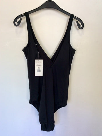 BRAND NEW SPIRITO DI ARTIGIANO BLACK CROSS OVER SWIMSUIT SIZE 18