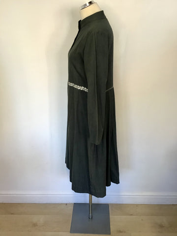 JAPANESE DESIGNER KAIT DARK GREY LINEN & COTTON BLEND COAT  SIZE M