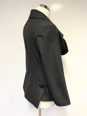 VIVIENNE WESTWOOD DARK GREY COLLARED JACKET SIZE 40 UK 12