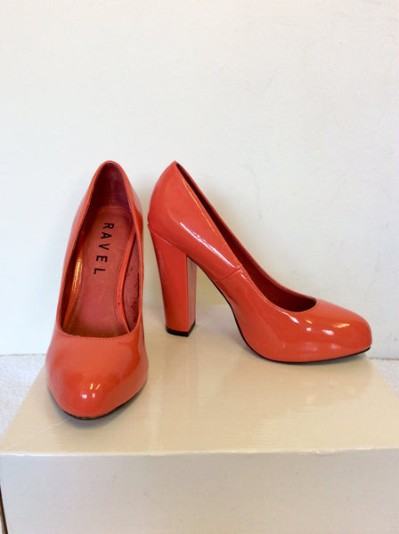 f3e79a3025e BRAND NEW WITH DEFECTS RAVEL CORAL PATENT HEELS SIZE 5 38 – Whispers ...