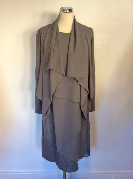 BRAND NEW CREA CONCEPT GREY DRESS & JACKET SIZE 12/14