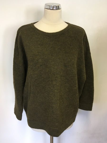 AMERICAN VINTAGE KHAKI/ BROWN OVERSIZE JUMPER SIZE XS/S